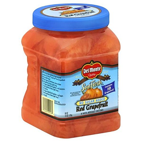 - DEL MONTE FRESH FRUIT REFRIGERATED JARRED RED GRAPEFRUIT NO SUGAR ADDED 64 OZ PACK OF 2