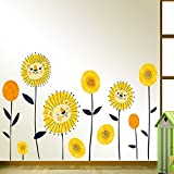 Best Amaonm Home Fashion Kids - Amaonm Fashion Creative Sunflower Wall Stickers Removable DIY Review