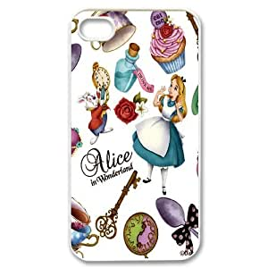JenneySt Phone CaseAlice in Wonderland Girls Animal For Iphone 4 4S case cover -CASE-4