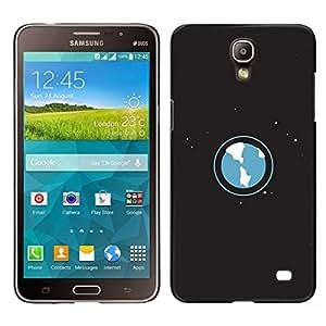 EJOY---Cubierta de la caja de protección para la piel dura ** Samsung Galaxy Mega 2 ** --Espacio Planet Galaxy Estrellas 53