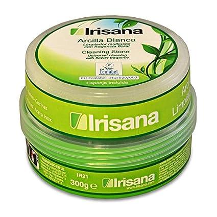 Irisana Arcilla ecologica para Limpieza, Cerámica, Blanco, 10x10x8 cm