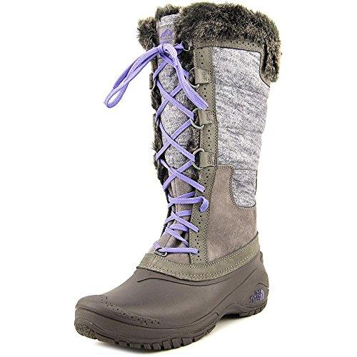 (The North Face Shellista II Boot Tall Womens Plum Kitten Grey/Deep Wisteria Purple 8.5)