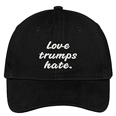 Love Trumps Hate Embroidered Soft Low Profile Adjustable Cotton Cap