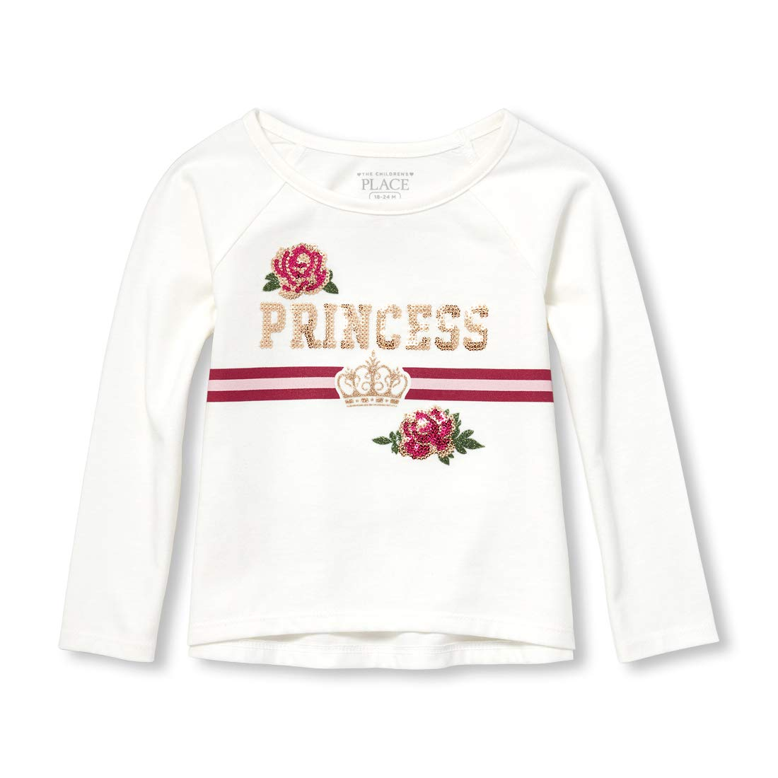 The Childrens Place Girls Toddler Long Sleeve Graphic Shirt