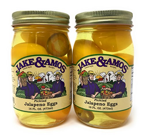 Jake & Amos - Pickled Jalapeno Eggs / 2 - 16 Oz. Jars