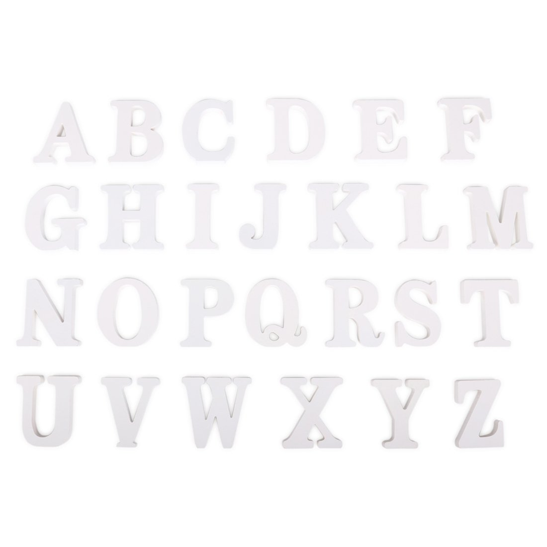 FUT_Forevre Decorative Wooden Letters Hanging Wall 26 Letters Three-Dimensional Wood Alphabet Letters for Baby Name Girls Bedroom Wedding Birthday Party