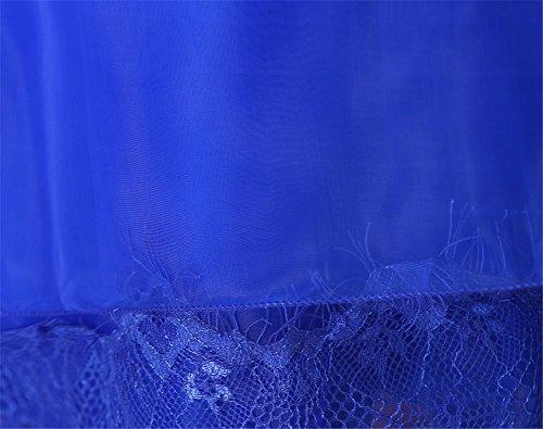 Para Real Vestido Drasawee Trapecio Mujer Azul x1qS1TPw