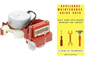Admiral Washer Washing Machine Shift Actuator Shifter PP1174106AD801 Bundle with PrismParts Appliance Maintenance Guide 2019 (Ships Separately)