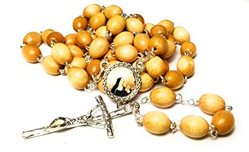 3rd class relic rosary Saint Rita of Cascia patron of Lost impossible causes, sickness, wounds marital problems, abuse, mothers Santa Rita de Casia Causas imposibles, problemas maritales (Wooden)