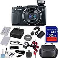 Canon Powershot SX710 HS 20.3MP Camera with 32GB Accessory Bundle + Extra Replacement Battery + Original Accessories + Spider Flexible Tripod + Carrying Case + 12pc Bundle - International Version Advantages Review Image