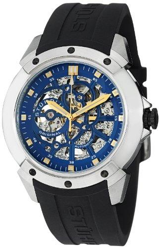 Stuhrling Original Men's 539.33166 Leisure Gen-X Crucible XT Automatic Skeleton Blue Dial Watch