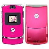 Motorola RAZR V3 5.5MB Unlocked 2G GSM Flip Phone (Pink) - International Version with No Warranty