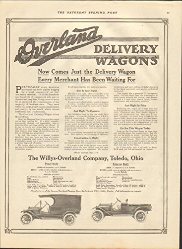 1914 Willys Overland Wagon Toledo OH Truck Ad Firestone Tires from 32 & Willys LLC
