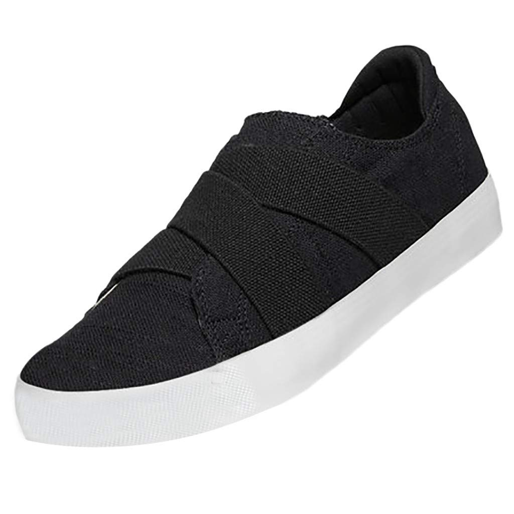 Sunsee-Women Shoes Womens Summer Canvas Flat Running Shoes Summer Beach Shoes Casual Single Shoes (41/US 8, Black) by WOMEN SHOES BIG PROMOTION-SUNSEE (Image #6)