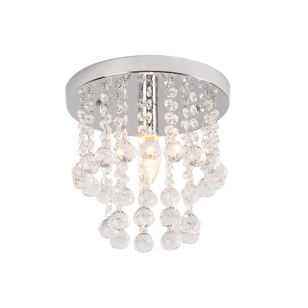 Sonmer Crystal Chandelier Ceiling Lamp(7.9''), E12 Base,110V,LED Modern Light Home Decor
