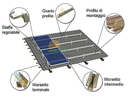 Pannelli Fotovoltaici Raffreddati Ad Acqua.Kit Struttura Di Montaggio Per Pannelli Fotovoltaici 3 Kw Su Tetto A