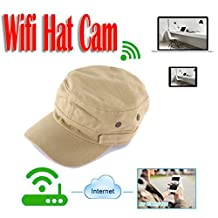 MDTEK@ HD 720P P2P IP Camera Wearable WIFI Spy Hat Camera MINI Covert Hat Cap Camcorder Portable DV Camcoder Wifi Nanny Camera Support IOS/Android PC iPad Video and Audio Recorder