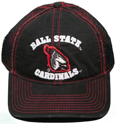 NEW! Ball State Cardinals Adjustable Snap Back Hat Embroidered Mesh Back Cap