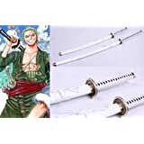 Dream2reality Cosplay One Piece Zoro Wadou Ichimonji Replica Sword T10 Clay Tempered High Carbon Steel Full Handmade Full Tang Katana