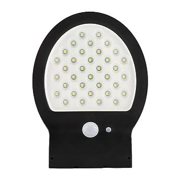Haofy Apliques de Pared Lámparas Solares Farolas Sensor de Movimiento PIR Inalámbricas para Patio, Cubierta