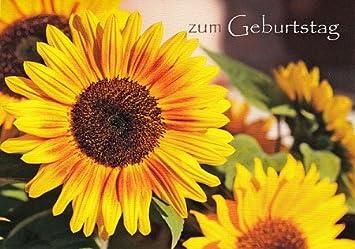 Geburtstagskarte Sonnenblume