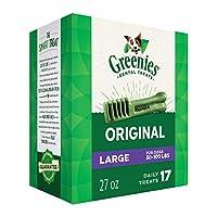 Greenies Original Large Dog Treats para perros, 27 oz. Pack (17 Golosinas)