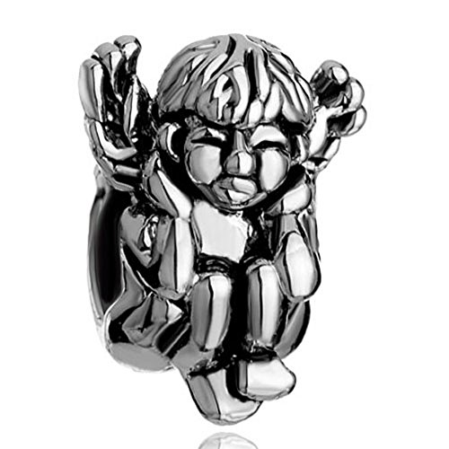CharmsStory Angel Wings Squatting Hear No Evil Charm Bead For Bracelets