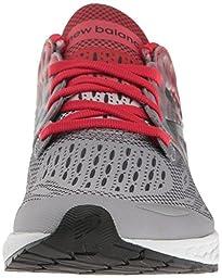 New Balance Boys\' Fresh Foam Zante V3 Running Shoe, Grey 1/Red, 4.5 M US Big Kid