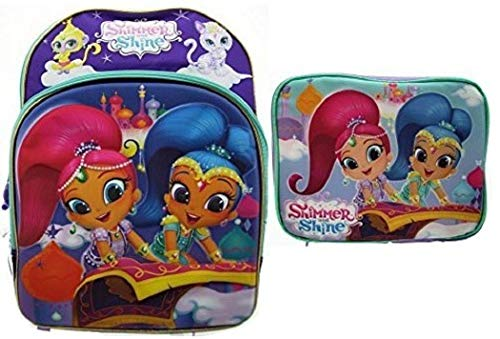 (Shimmer and Shine Deluxe EVA Molded 16 Inch Backpack & Insulated Lunch Tote)