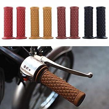 Ocamo Manillar de Goma Agarre a Mano Final de la Barra para Motocicleta Bicicleta Cafe Racer,2pcs 7//8 22 mm