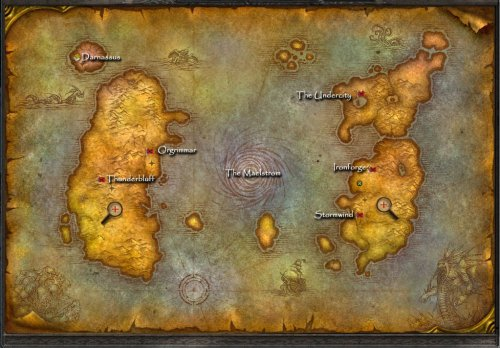 Amazon the world of warcraft two sided world map 24 x 32 image unavailable gumiabroncs Choice Image