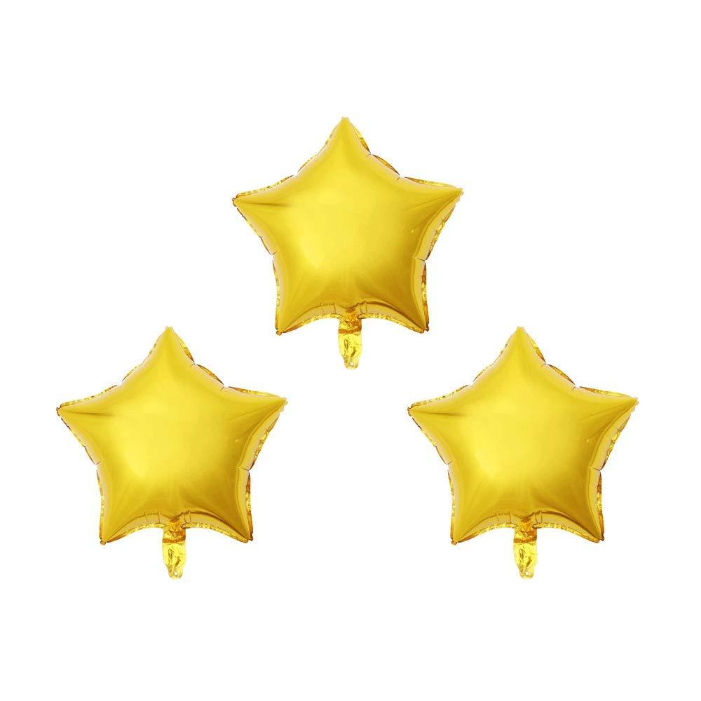 YESON 24インチ星型ホイルバルーン 星型マイラーバルーン 5つ星形ヘリウムバルーン 五角形バルーン 誕生日パーティー ウェディングパーティーデコレーション 12個 ゴールド QQ-0001  ゴールド B07GDGT7CH