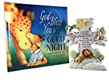 Cheap Baby Gift Set, Christening, Baptism, Baby Shower Gift – Includes God Created Everything Night Light and God Bless You and Good Night Book