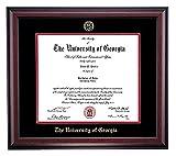 Embossed UGA Diploma Frame (Mahogany)