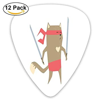 Crime Fighter Ninja Cat With Two Swords And Heart Cartoon ...