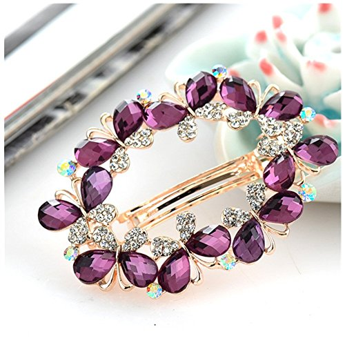 Casualfashion Bridal Hair Jewelry Austria Rhinestone Crystal Hair Barrette for Women Clips Hair Hairpins ()