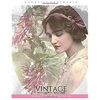 Vintage Women Portrait Art Coloring Book: Grayscale Coloring for Relaxation, Adult Coloring Book, Art Therapy (Vintage Coloring Book) (Volume 1)