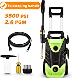 Homdox 3500 PSI Electric Pressure Washer, 2.6 GPM 1800W Electric Power Washer with Hose Reel, 4 Quick-Connect Spray Tips
