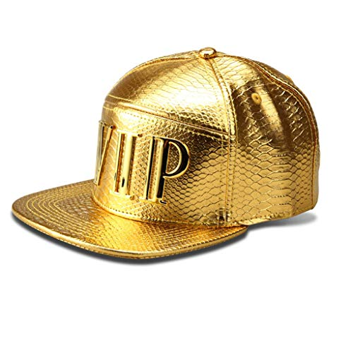 LEEYA NYU06 The New Crocodile Baseball caps Brand Flat-Brimmed Hats Hip-hop hat (VIP-Gold)
