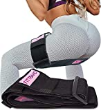 Resistance Booty Band & Hip Circle: Adjustable Non Slip Bootie Workout Band for Legs, Butt, Thigh, Glute, Core. Exercise & Fitness Elastic Belt Loop for Women & Men. Leg Resistant Bands & Loops