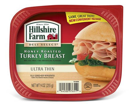 HILLSHIRE FARM DELI SELECT COLD CUTS LUNCH MEAT HONEY ROASTED TURKEY BREAST ULTRA THIN 9 OZ PACK OF 3