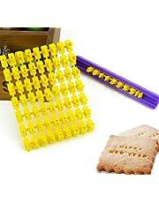 Set of 72pcs Alphabet Number & Letter Cookie Biscuit Stamp Embosser Cutter Fondant DIY Tool