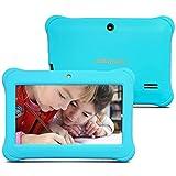 Alldaymall 2017 Nuevo Tablet para niños de 7 pulgadas 8GB (Quad Core, Android 5.1, 1GB RAM, Wi-Fi, Bluetooth) Azul con funda de silicona(3rd Generación)…