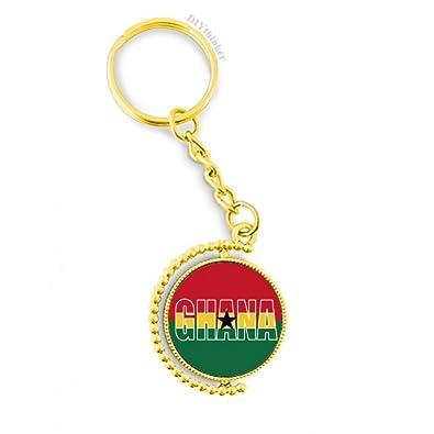 Amazon.com: Ghana - Llavero de metal, diseño de bandera de ...