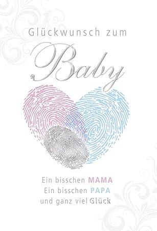 15 x 15 cm Karte zur Geburt Lettering Juhu ein Junge!