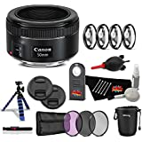 Canon EF 50mm f/1.8 STM Lens Professional Kit International Model