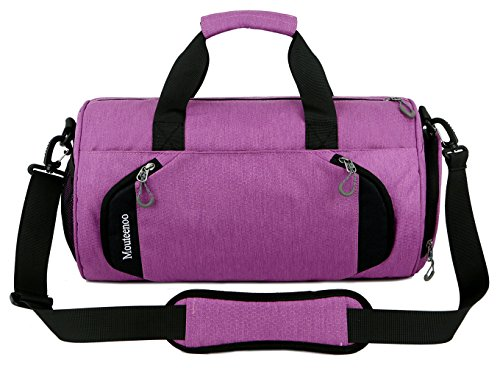 Gym-Sports-Small-Duffel-Bag-for-Men-and-Women-with-Shoes-Compartment-Mouteenoo-X-Small-Pink-Purple