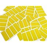 Minilabel CC-PAPEL-50x20 - Etiquetas adhesivas rectangulares (para codificación por colores, 50 x 20 mm, 80 unidades), color amarillo