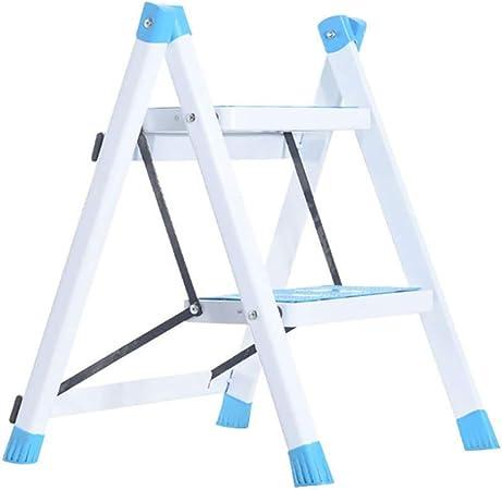 LLTD Metal Plegable Escaleras de Seguridad de 2 peldaños Ascendentes Taburetes de Cocina portátiles Inicio Escalera de Tijera Herramientas de jardín (Color : D): Amazon.es: Hogar