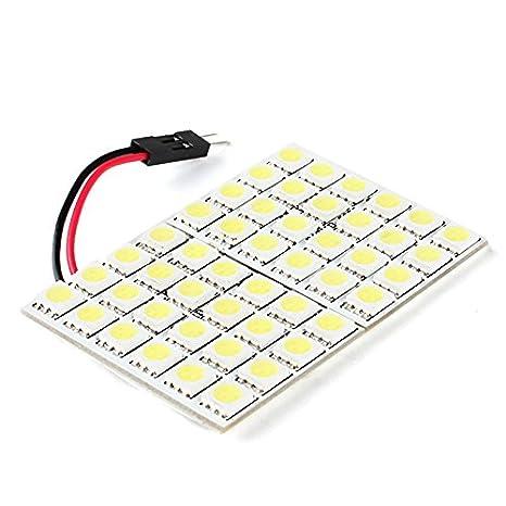 EXSZS 5050 SMD 48-bombilla LED de luz blanca para coche (12V DC)